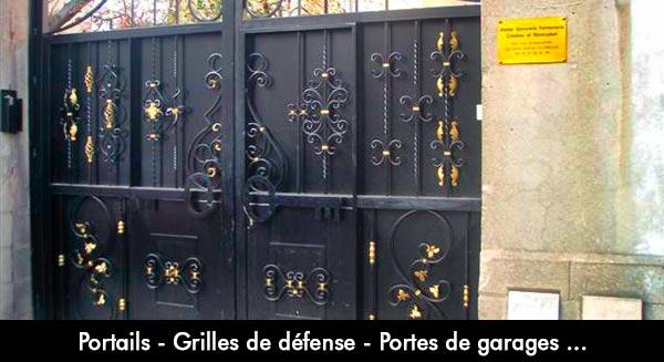 Serrurier installateur premium agr paris serrurerie - Grille de porte en fer ...